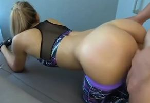 Humungous arse platinum-blonde mom..