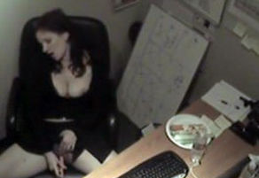 kinky receptionist in supreme solo..
