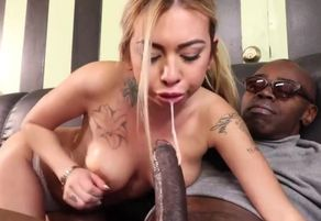 Naughty wifey orders a phat man rod..