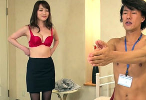 Huge-chested Chinese assistant toughly..