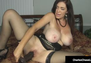 Huge  mother charlee pursue opens her..