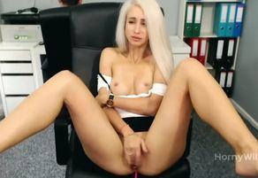 Sugary-sweet  blondie taunting and..
