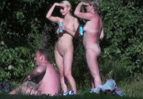 Lovely saggy naturist