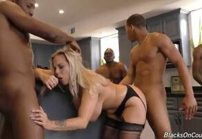 Ajx big black cock saggy gang-bang 8..