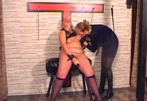 Domina is penalizing her sub