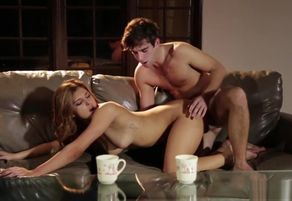 Huge-titted youngster spoon smashed on..